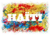 HELFT HAITI - Typo - Grafik by M. B. Meyer