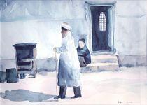 Mann am Basar, Usbekistan