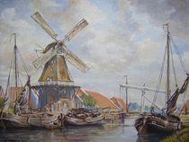 Mühle am Kanal von Lothar Struebbe