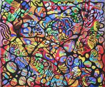 Abstraktion hell 2008 60 x 50 cm von Harry Stabno