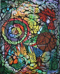 Kleiner Hahn 1991 40 x 50 cm von Harry Stabno
