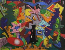 Abstraktion Ei 2003 90 x 70 cm by Harry Stabno