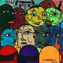 Versammlung 1996 65 x 65 cm - VERKAUFT ! von Harry Stabno