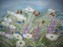 Blumenwiese im Wind von Beate Glüsing