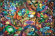 Abstraktion Schmetterling 2008 120 x 80 cm von Harry Stabno