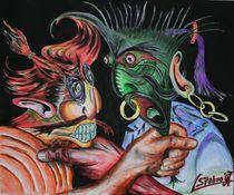 Der Streit 1997 60 x 50 cm von Harry Stabno