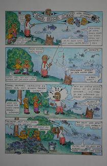 Comic - Onkel Bommel angelt 1981 A4 by Harry Stabno