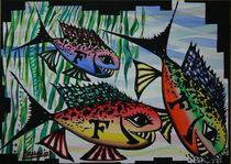 F Fische - 2007 70 x 50 cm von Harry Stabno