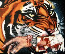 Sieger-Tiger - 2004 60 x 50 cm  VERKAUFT ! von Harry Stabno
