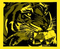 Sieger-Tiger black & yellow - 2004 A4  von Harry Stabno
