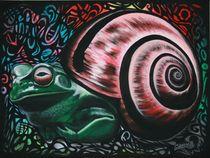 Froschneck der Erste - 1992 80 x 60 cm by Harry Stabno