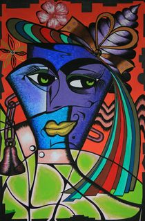 New Blue Angelique 2009 100 x 150 cm by Harry Stabno