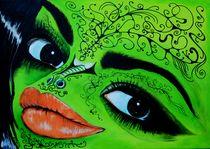 Frosch-Dame 2009 70 x 50 cm von Harry Stabno