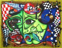 Green Mary 2010 90 x 70 cm by Harry Stabno