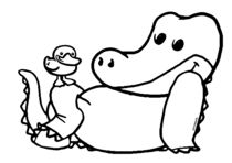 Krokodil und Ente by droigks