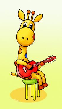 Giraffe spielt Gitarre von droigks