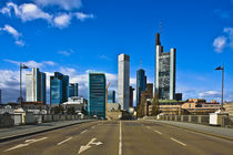 Frankfurt Skyline Wolkenkratzer Hochhäuser Banken by Bernard Fox