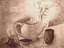 Teetime in Sepia von Marta Dzierzynska