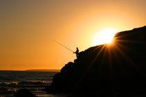 Fischer im Sonnenuntergang von bou nae