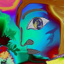 frau in blau by Yvonne Habenicht