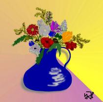 Blumen im Krug von Yvonne Habenicht