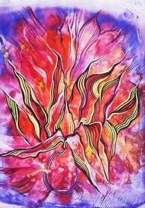 florales-Rot von Olga Krämer-Banas
