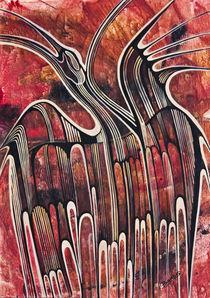 Kranich-Rot von Olga Krämer-Banas