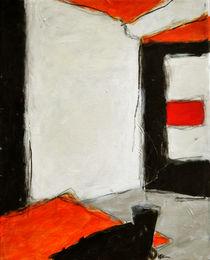 Komposition mit rot von Karin Stein