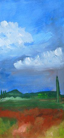 Landschaft in Oberitalien von Karin Stein