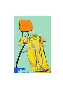 Stuhl mit Decke by Karin Stein