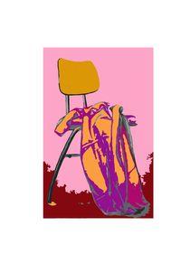 Stuhl mit Decke von Karin Stein