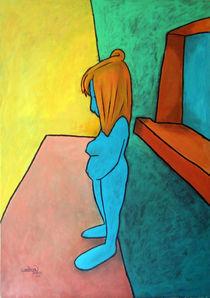 Mädchen, blau by David Joisten