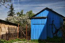 blaues Häuschen by Anja Uhlig