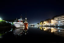 Emden harbour at Night von Stefanie Härtwig