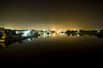 harbour at dark night by Stefanie Härtwig