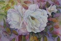 Weiße Rosen by Kerstin Birk