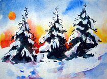 Tannenduft im Winter I von Karin Müller