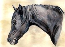 Araber Aquarell Grey von Sandra Vollmann.W.