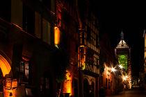 Dolder in Riquewihr bei Nacht by lizcollet
