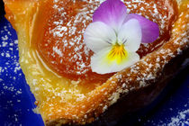 Apricot Pie With Edible Flower |Sweet and Fruity von lizcollet