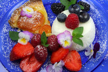 Sommerleichte Joghurt-Mousse an frischen Beeren von lizcollet