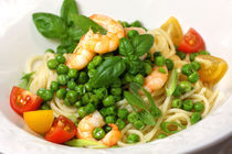 Spaghetti, Peas and Frutti di Mare by lizcollet