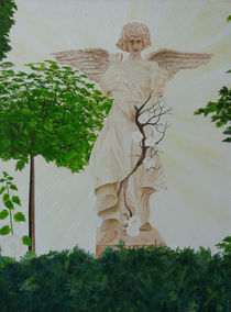 Engel mit Rosen by Horst J. Kesting