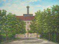 Kloster Bardel, Pforte um 1954, Bad Bentheim by Horst J. Kesting