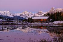 Früh am Morgen in den Bergen von Johannes Netzer