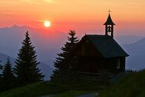 Sonnenuntergang in den Alpen von Johannes Netzer