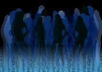 Partygirls - Blau von Angela Parszyk