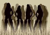Partygirls - Sepia by Angela Parszyk