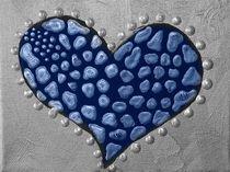 Liebesherz VivitoArt blau by Angela Parszyk