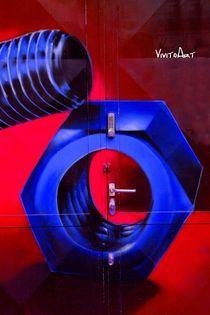The Door Rot-Blau von Angela Parszyk